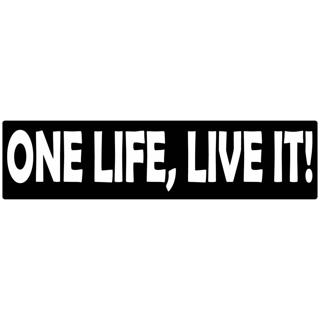 Autocollant pare-chocs one life