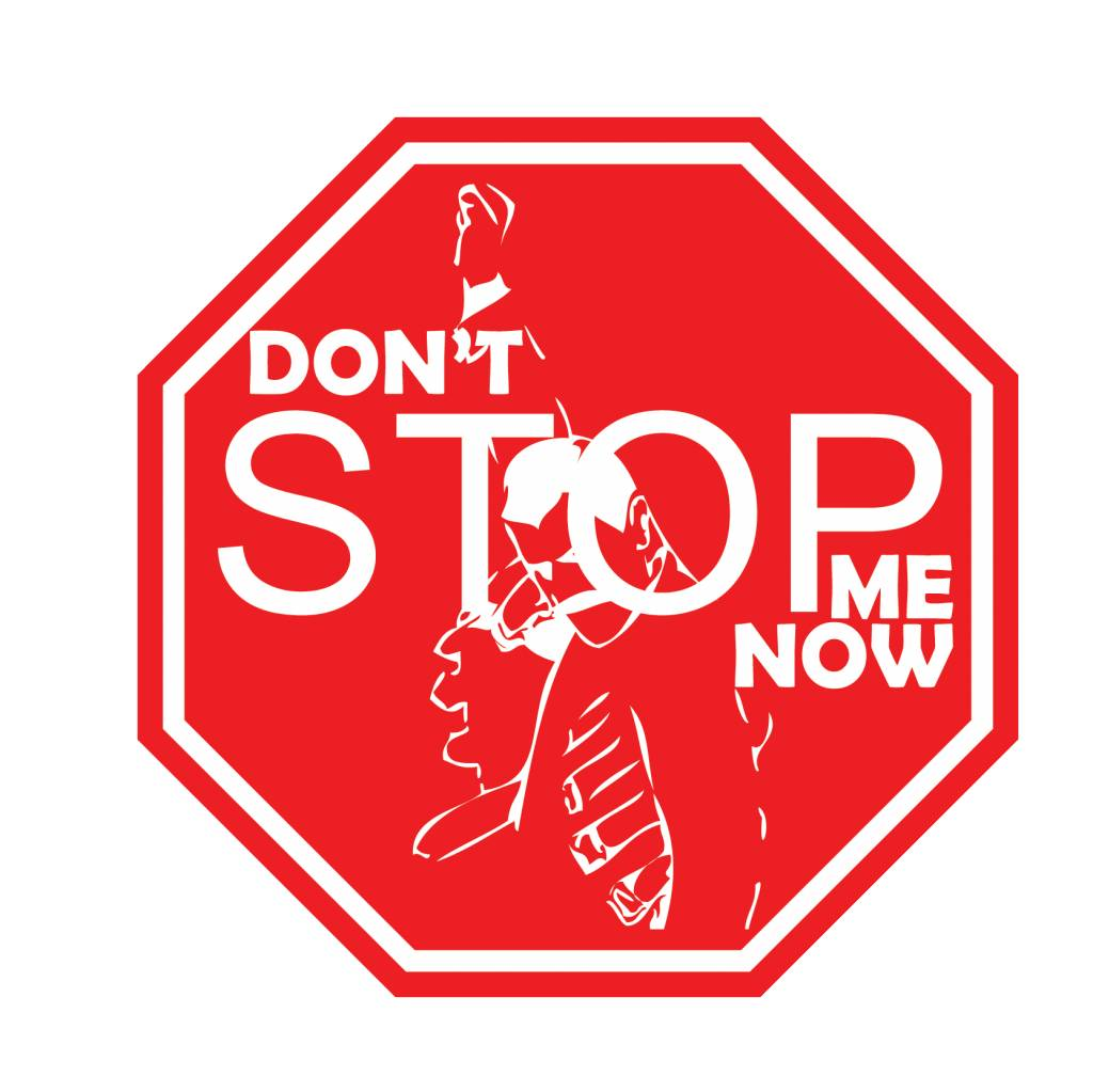 "Autosticker Don't stop me ""white"""