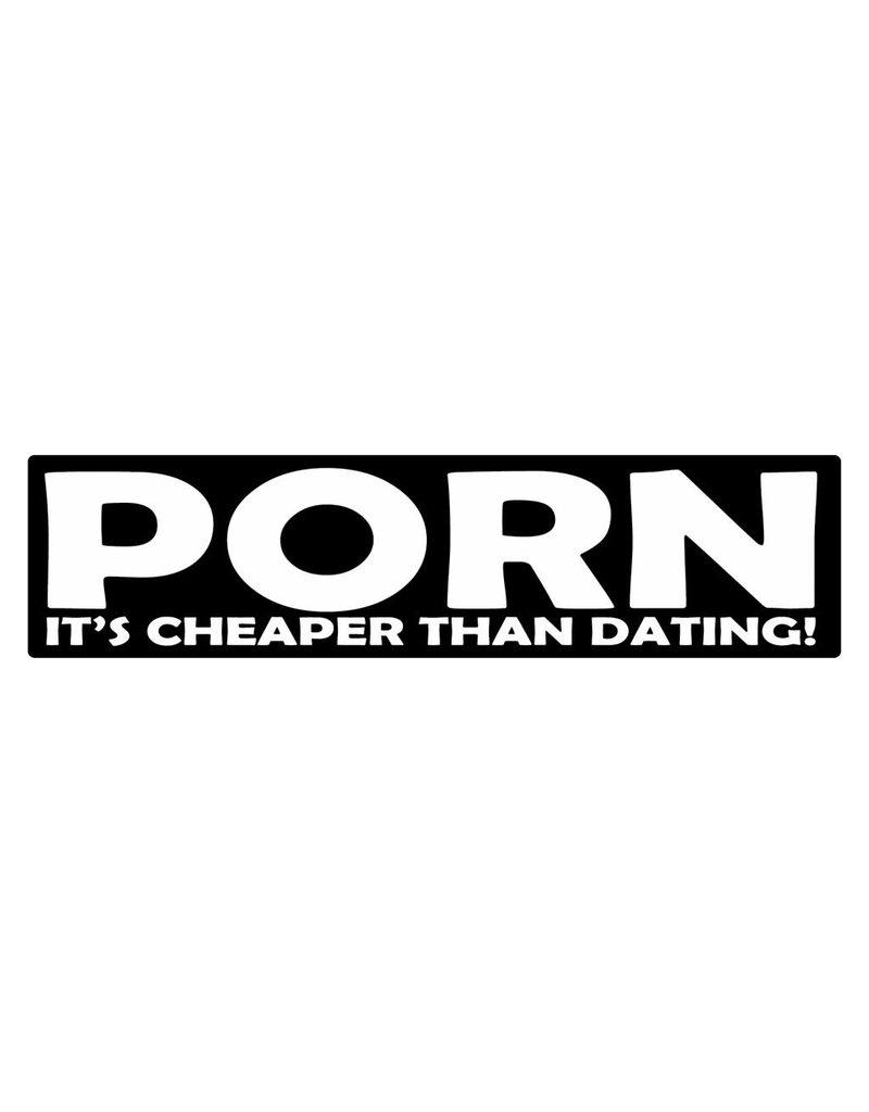 "Autocollant pare-chocs ""porn"""