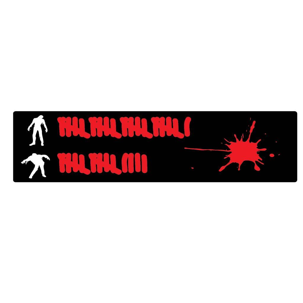 Bumper stickers: zombie hitting