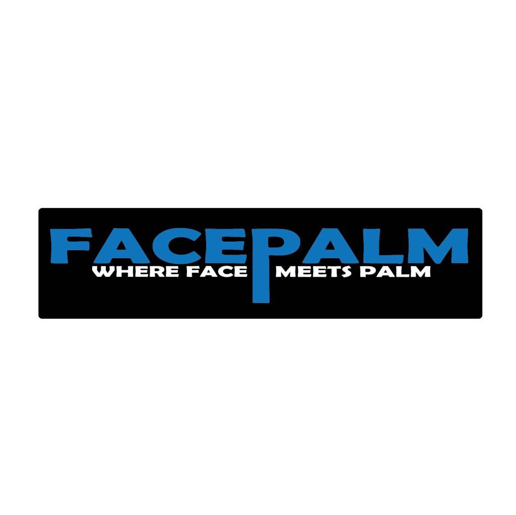 Stoßstange Aufkleber facepalm