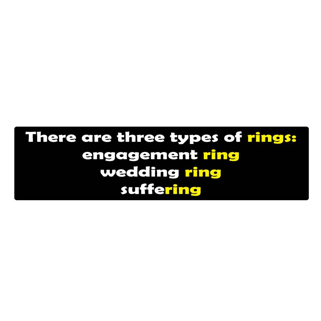 Bumper stickers ring