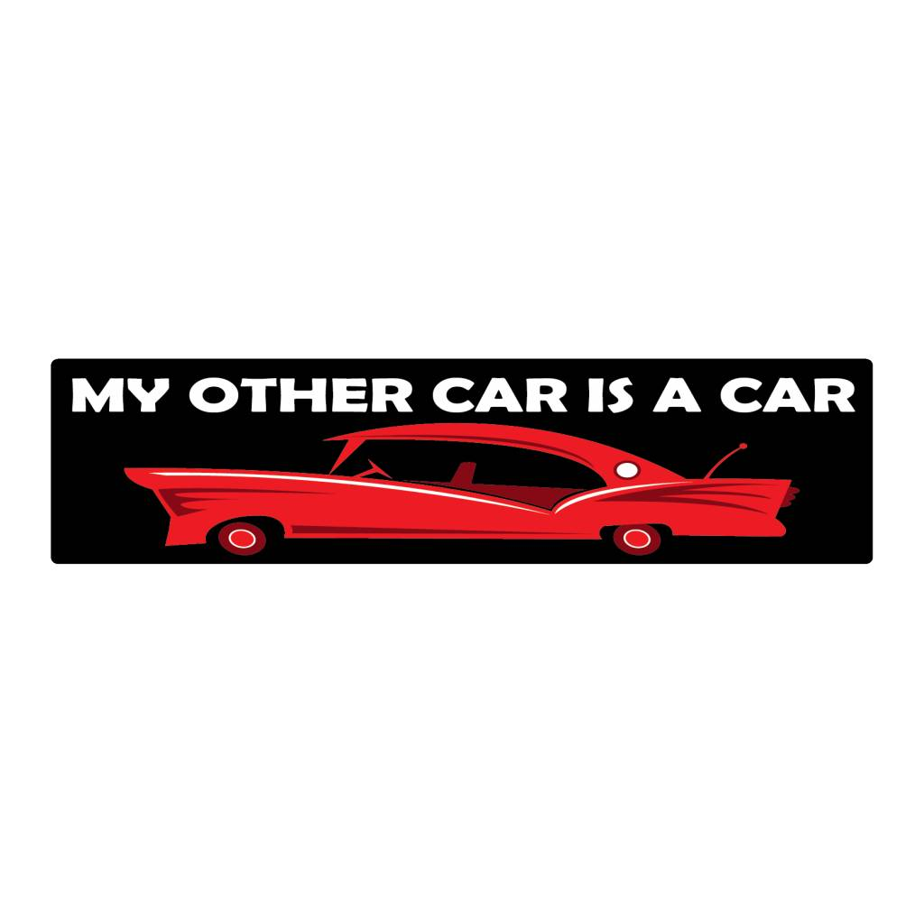 Stoßstange Aufkleber car is car