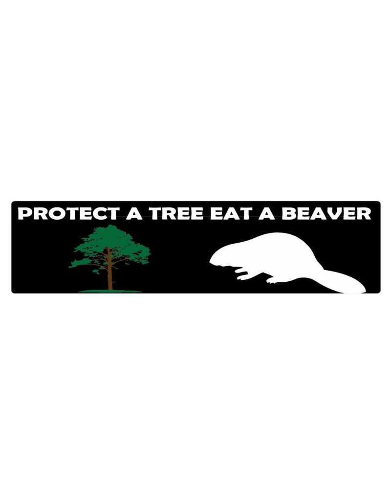 Autocollant pare-chocs protect a tree