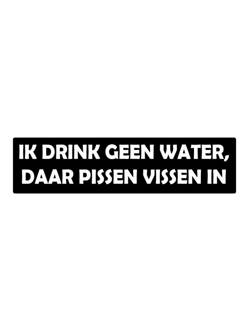 Bumper stickers geen water drinken