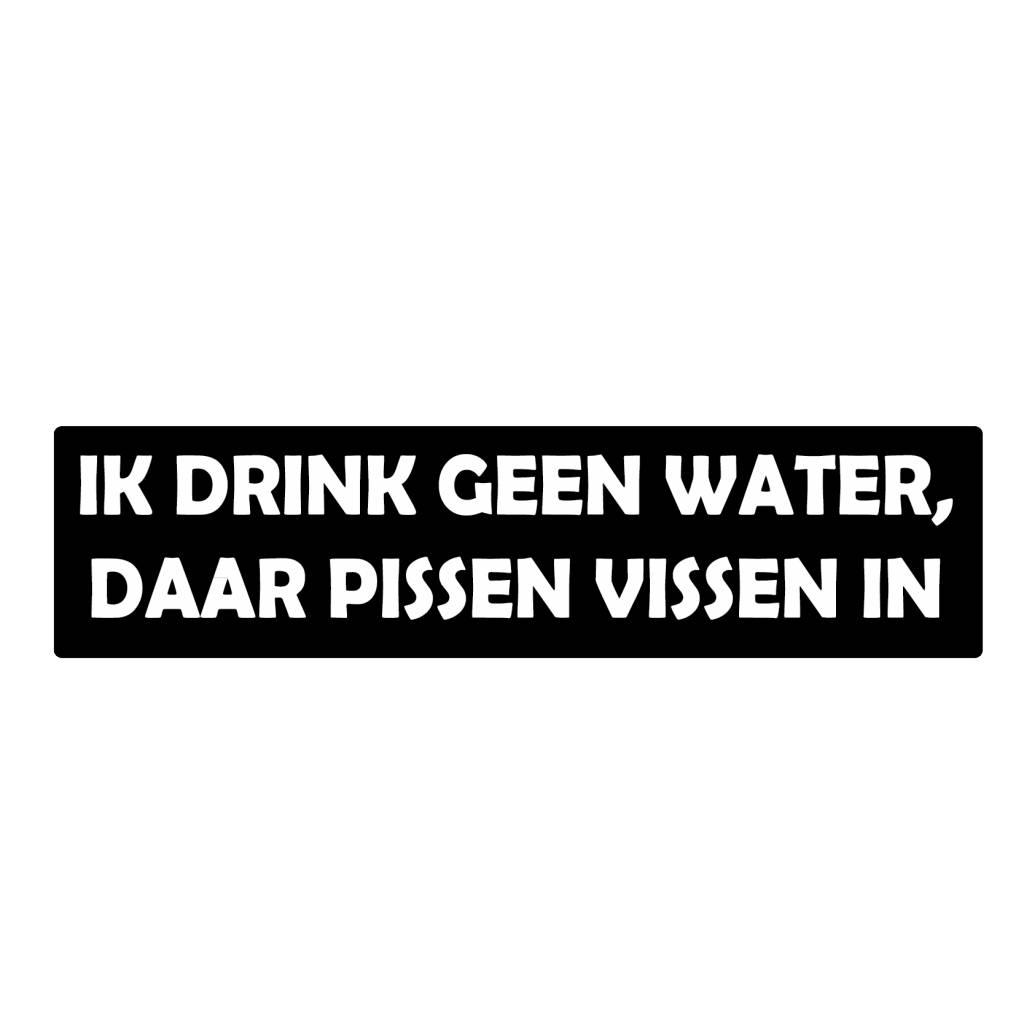 """Autocollant pare-chocs """"geen water drinken"""""""