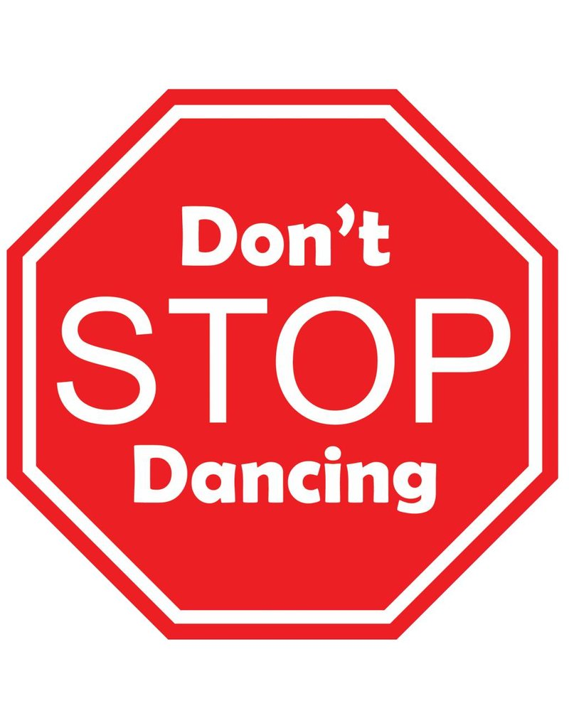 Auto sticker don't stop dancing