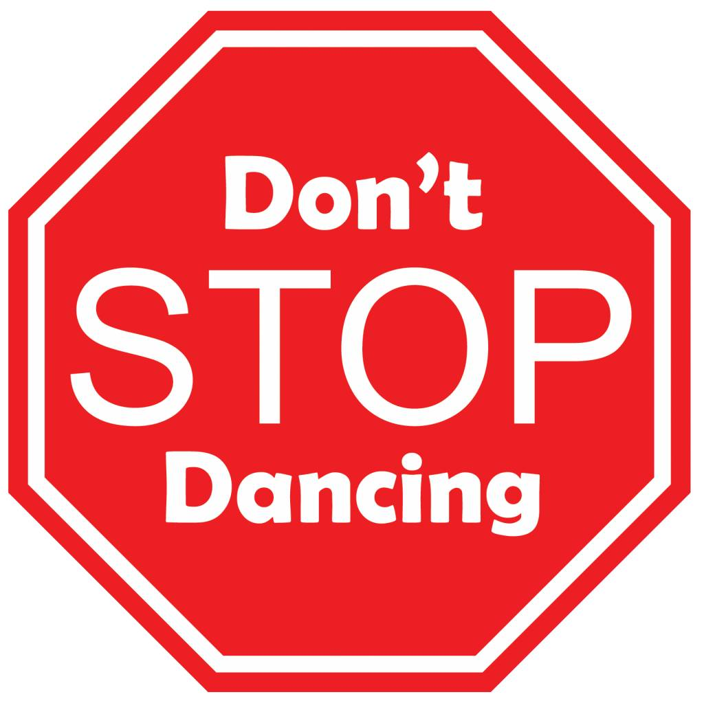 Pegatina de coche don't stop dancing