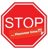 Autocollant voiture stop hammer time!!!