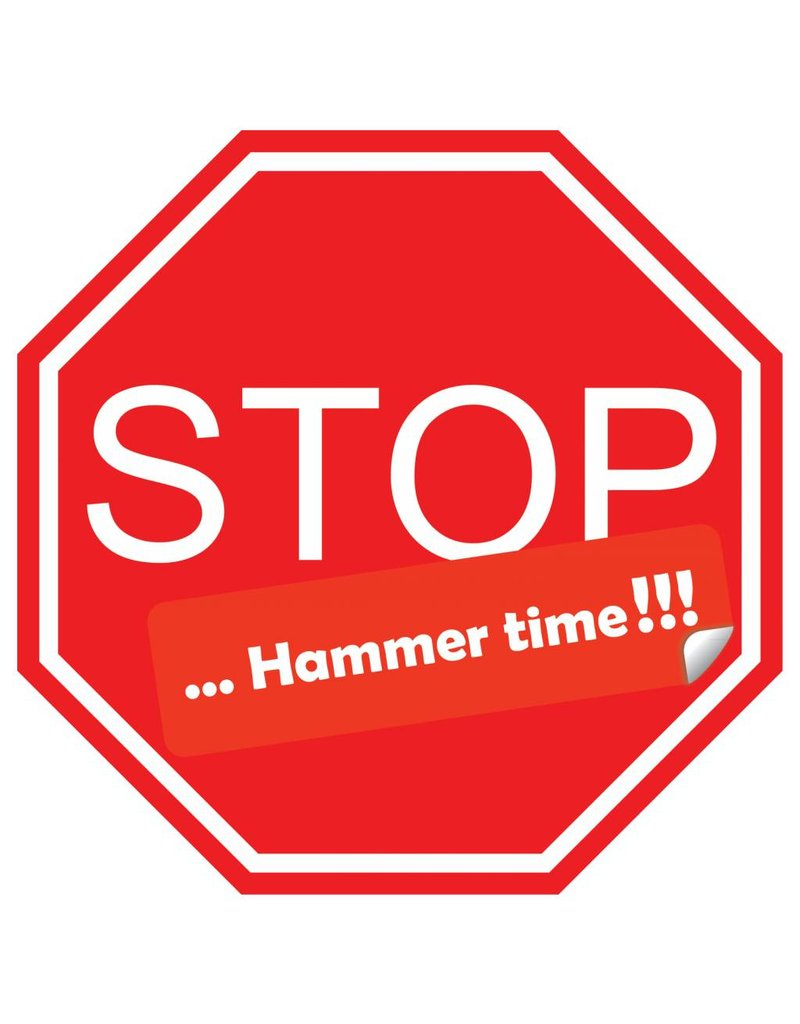 Carsticker stop hammer time!!!