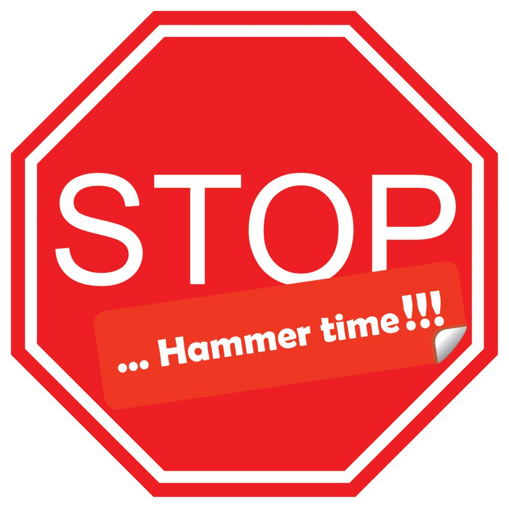 Carsticker stop hammer time!!!