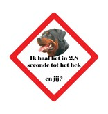 Auto sticker hond race