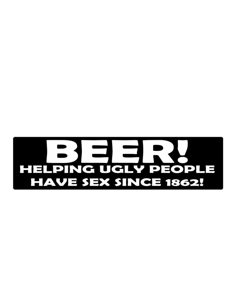 Bumper sticker beer