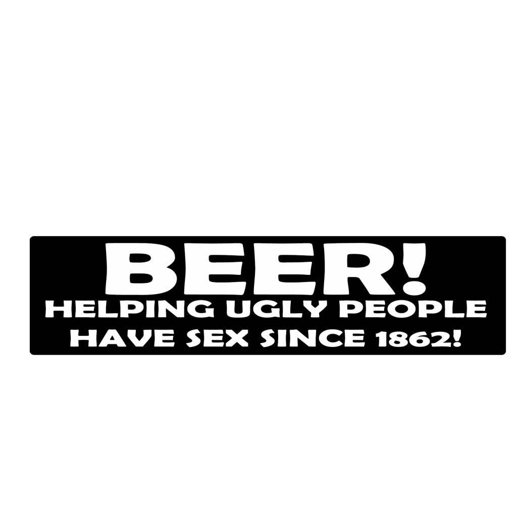 "Autocollant pare-chocs ""beer"""