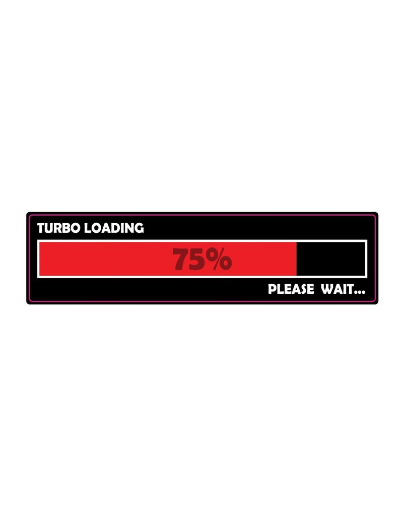 Autocollant pare-chocs loading