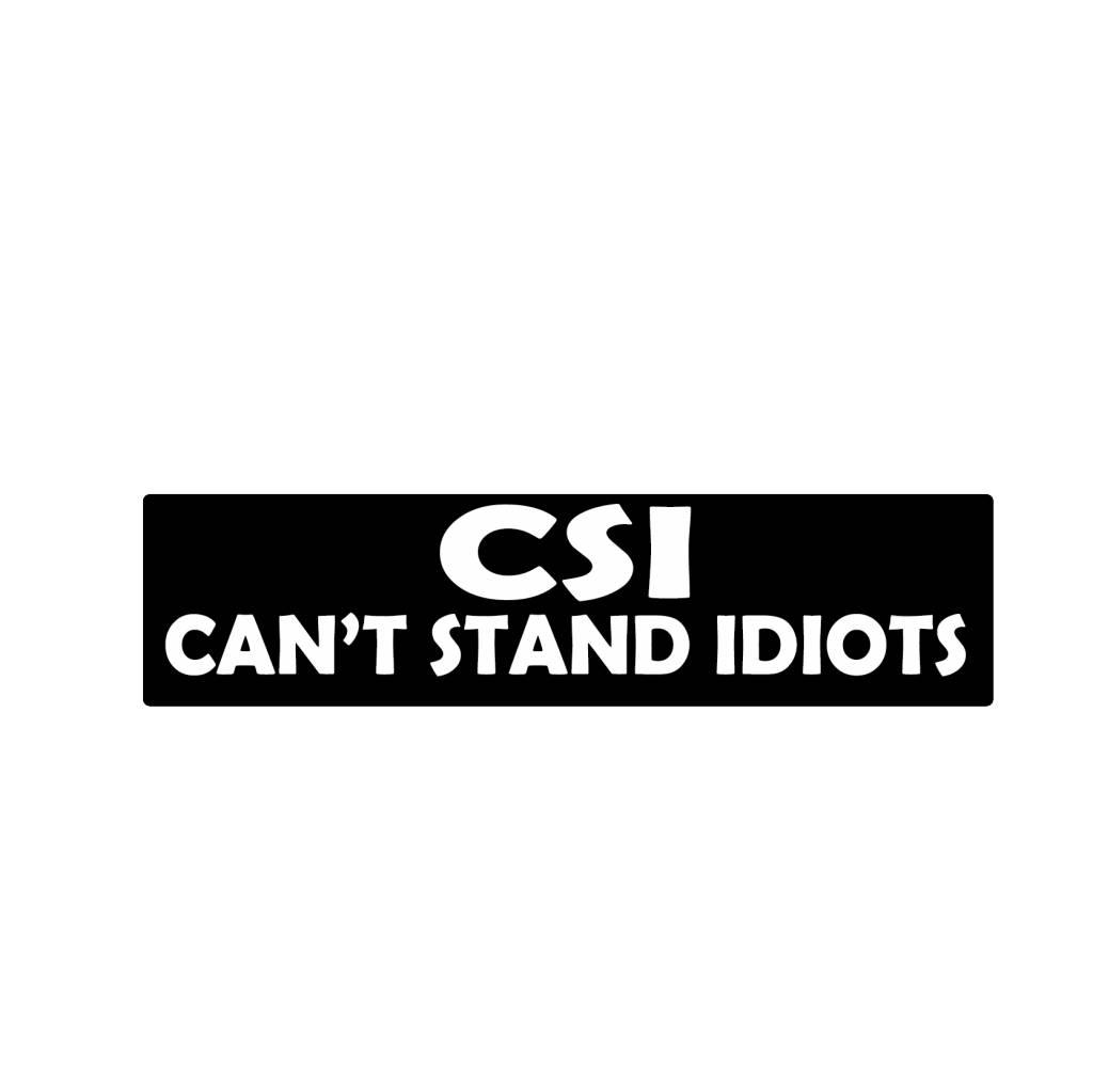 Stoßstange Aufkleber CSI
