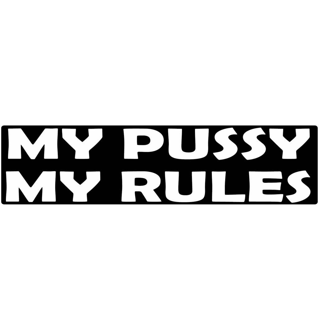 "Autocollant pare-chocs ""my pussy"""