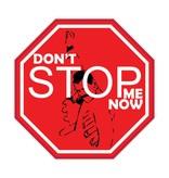 "Auto sticker don't stop me ""black"""