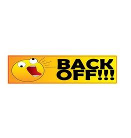 Bumper sticker back off