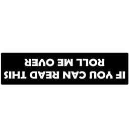 Bumper sticker upside down