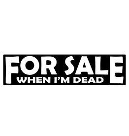 Bumper sticker for sale