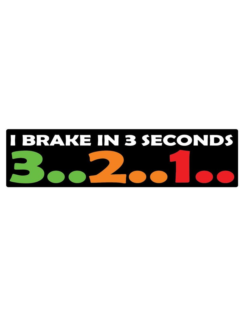 Autocollant pare-chocs 3..2..1..