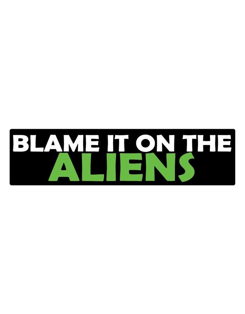 Autocollant pare-chocs aliens