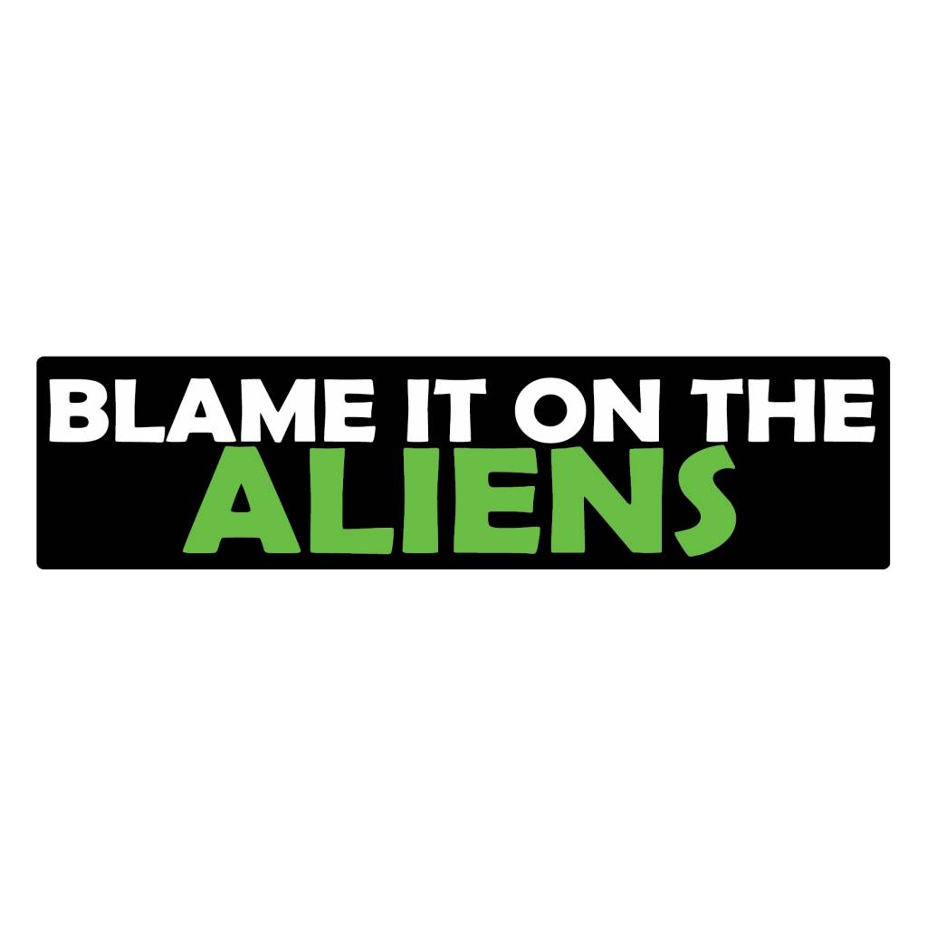 Bumper sticker aliens