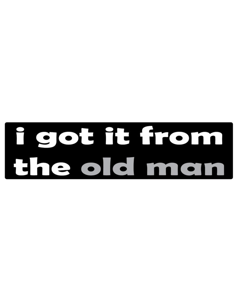 Bumper sticker old man