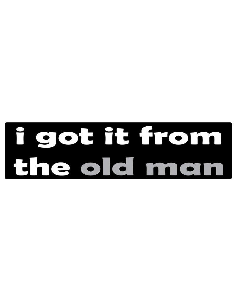 Stoßstange Aufkleber old man