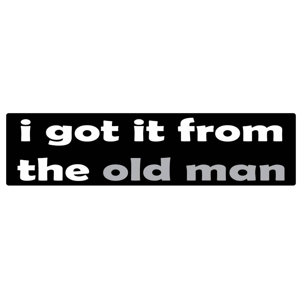 Bumper sticker old man