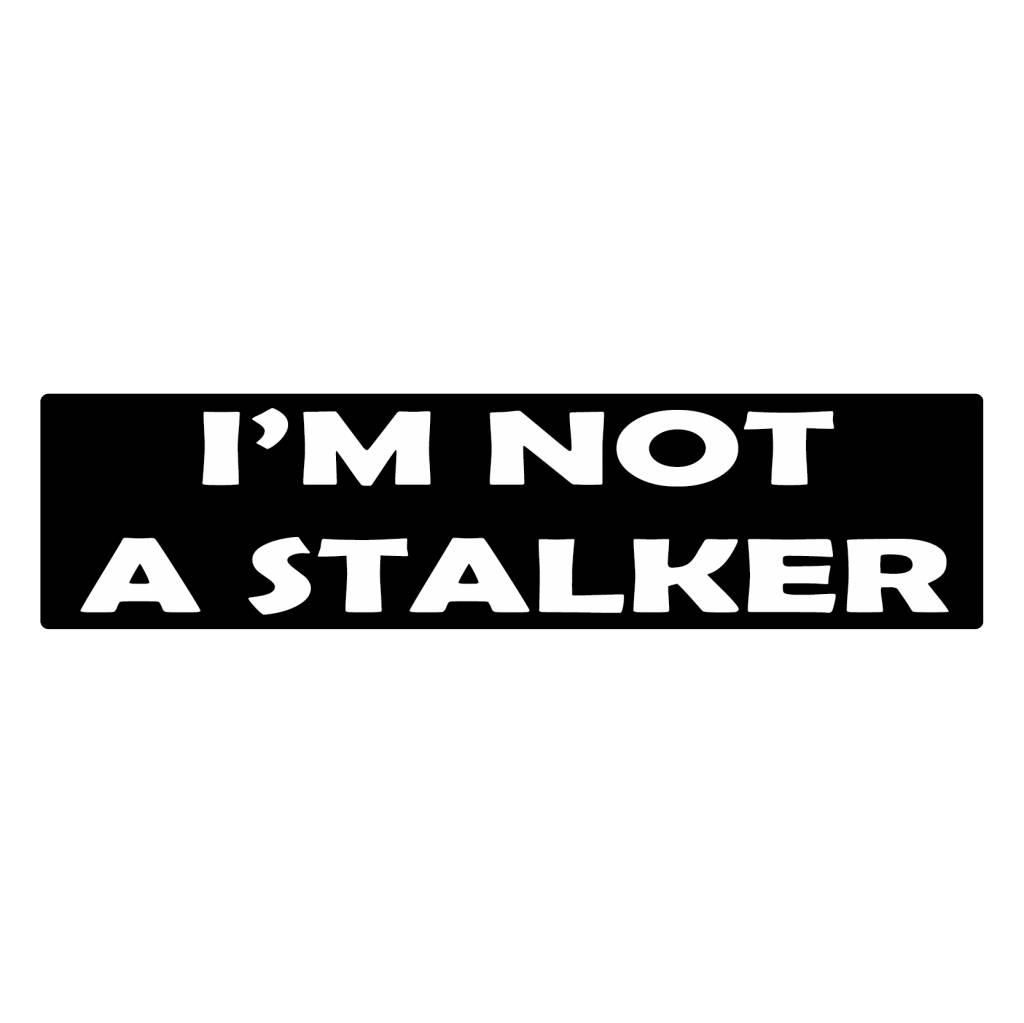 Bumper stickers stalker