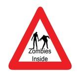 """Pegatinas para coches """"zombie inside"""""""