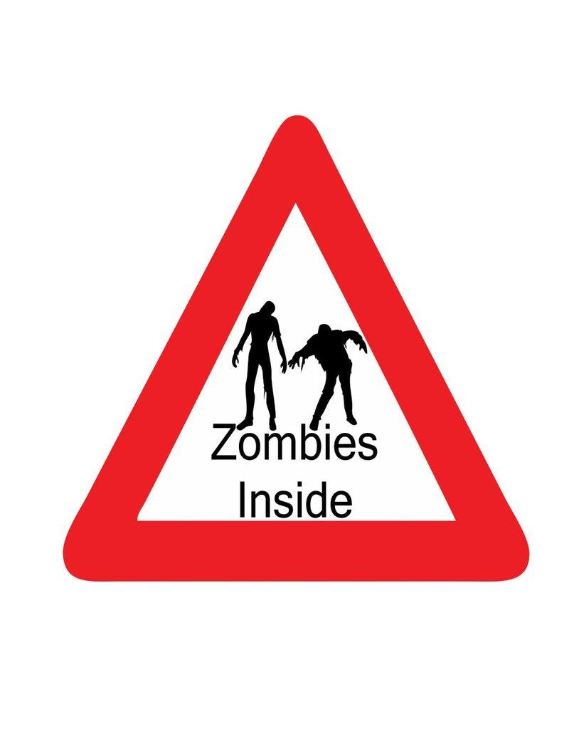 Car sticker zombie inside