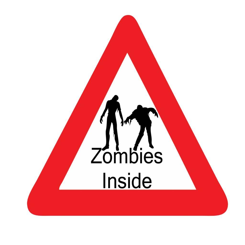 "Autocollant voiture ""zombie inside"""