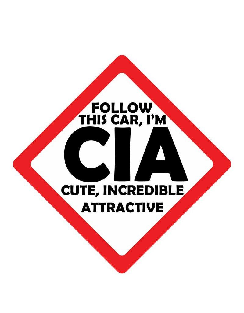 Pegatina de coche CIA