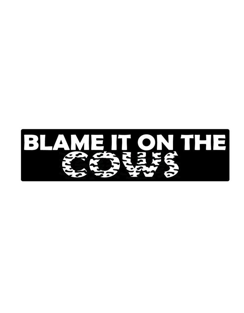 Autocollant pare-chocs cows