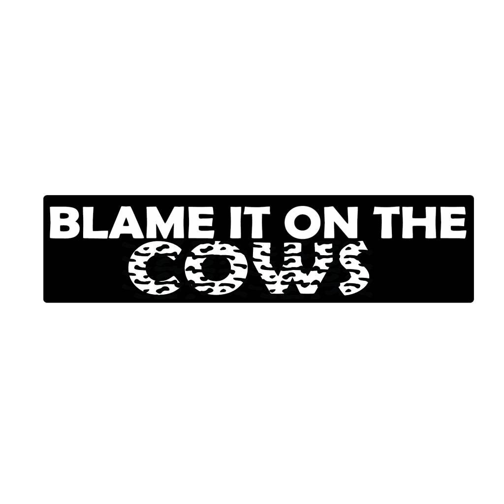 Bumper sticker cows