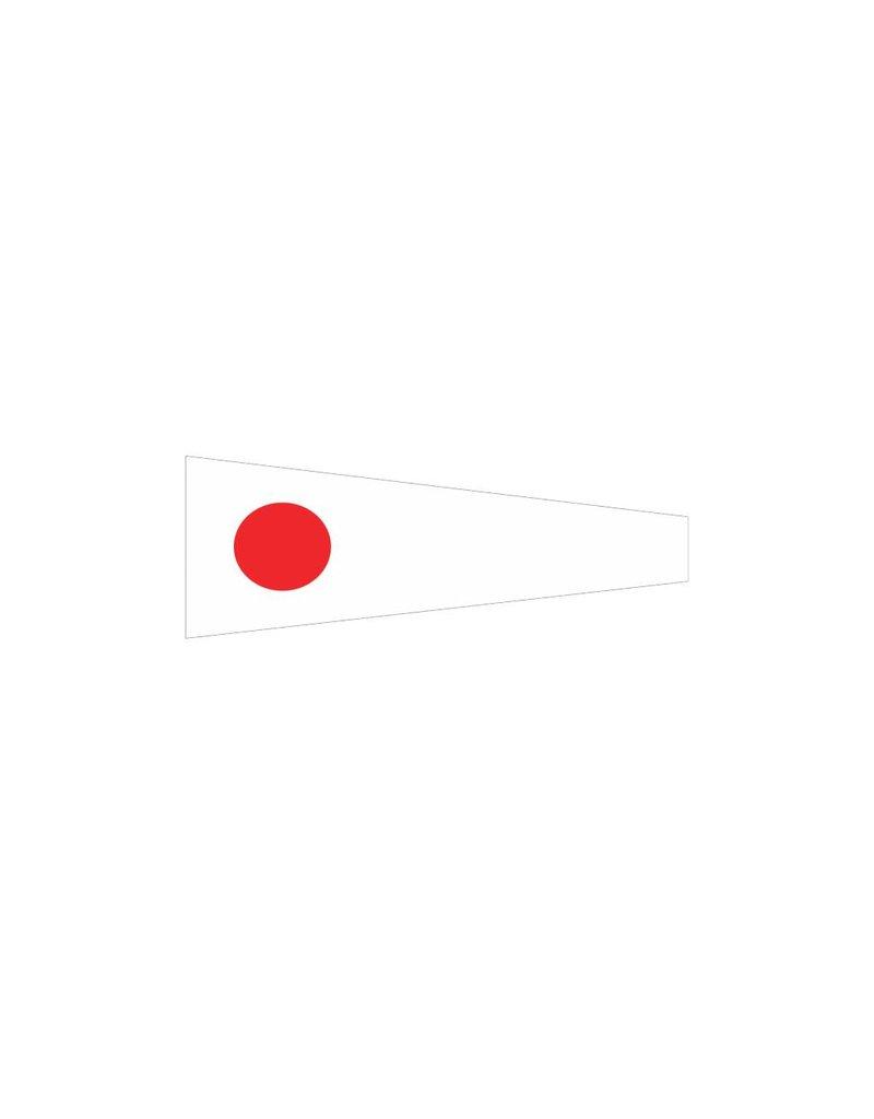 Nautische 1 Flagge Sticker