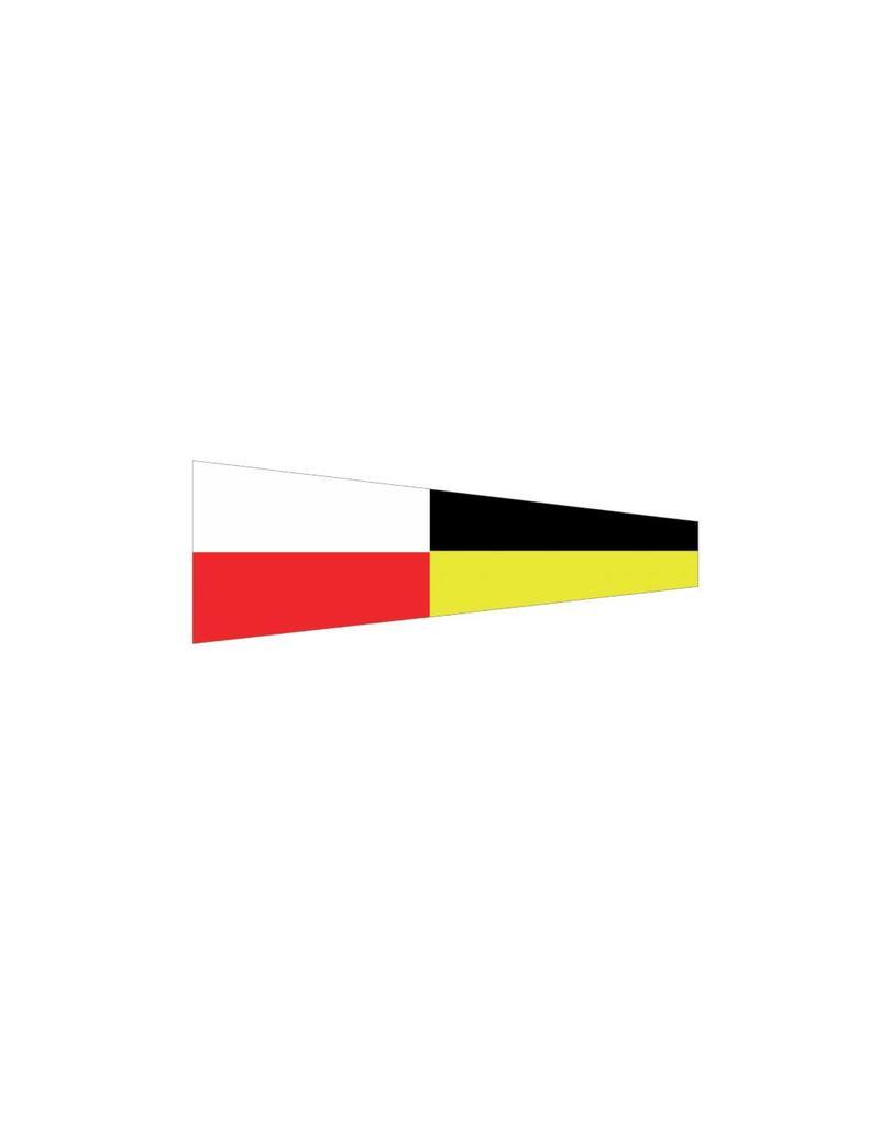 Nautische 9 Flagge Sticker