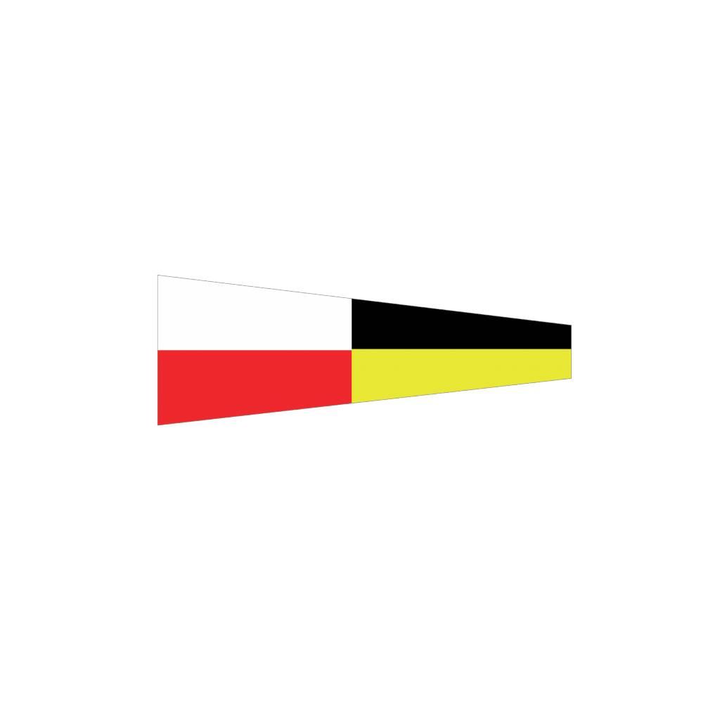 Maritime  9 flag Sticker