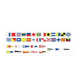 Maritime  flags overview Sticker