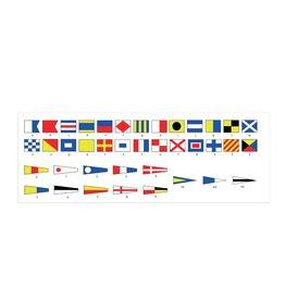 Vista general de pegatinas bandera marítimo