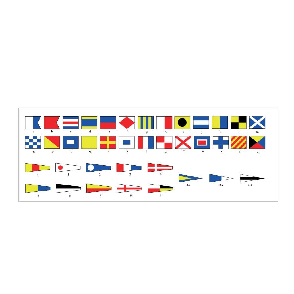 Nautische Flaggen Übersicht Sticker