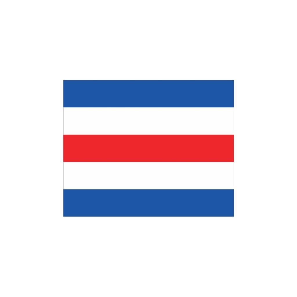 Nautische C Flagge Sticker