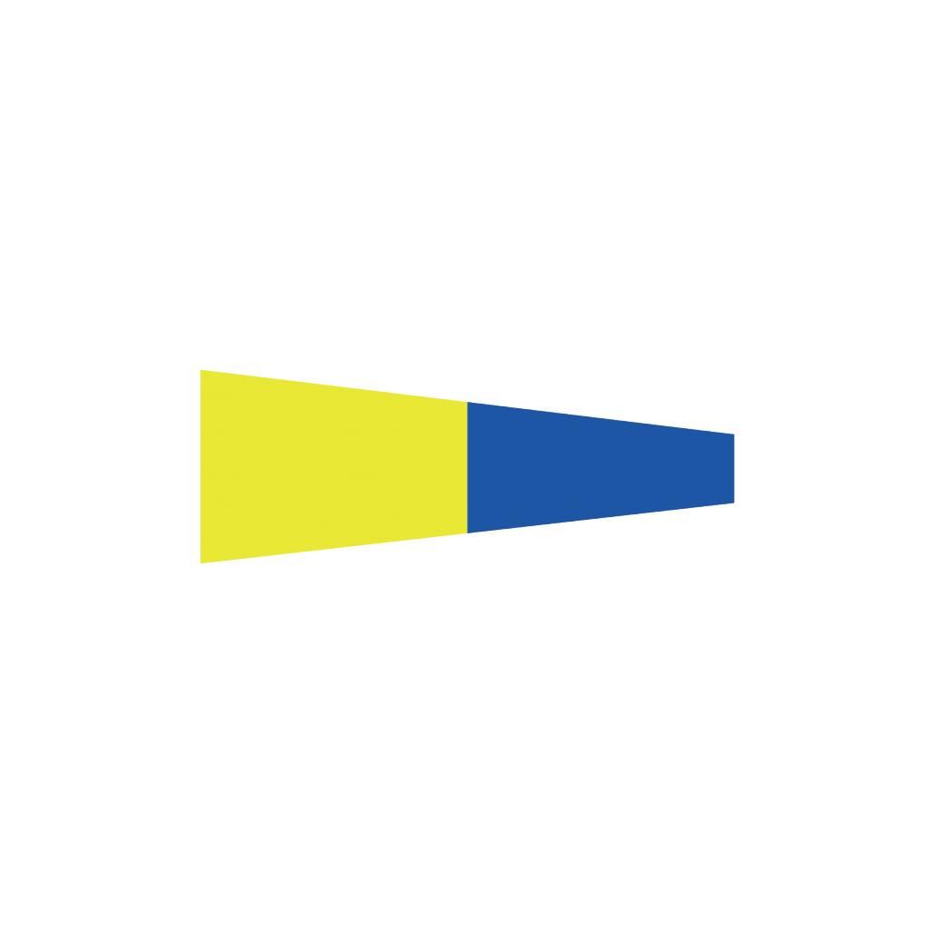 Maritime  5 flag Sticker