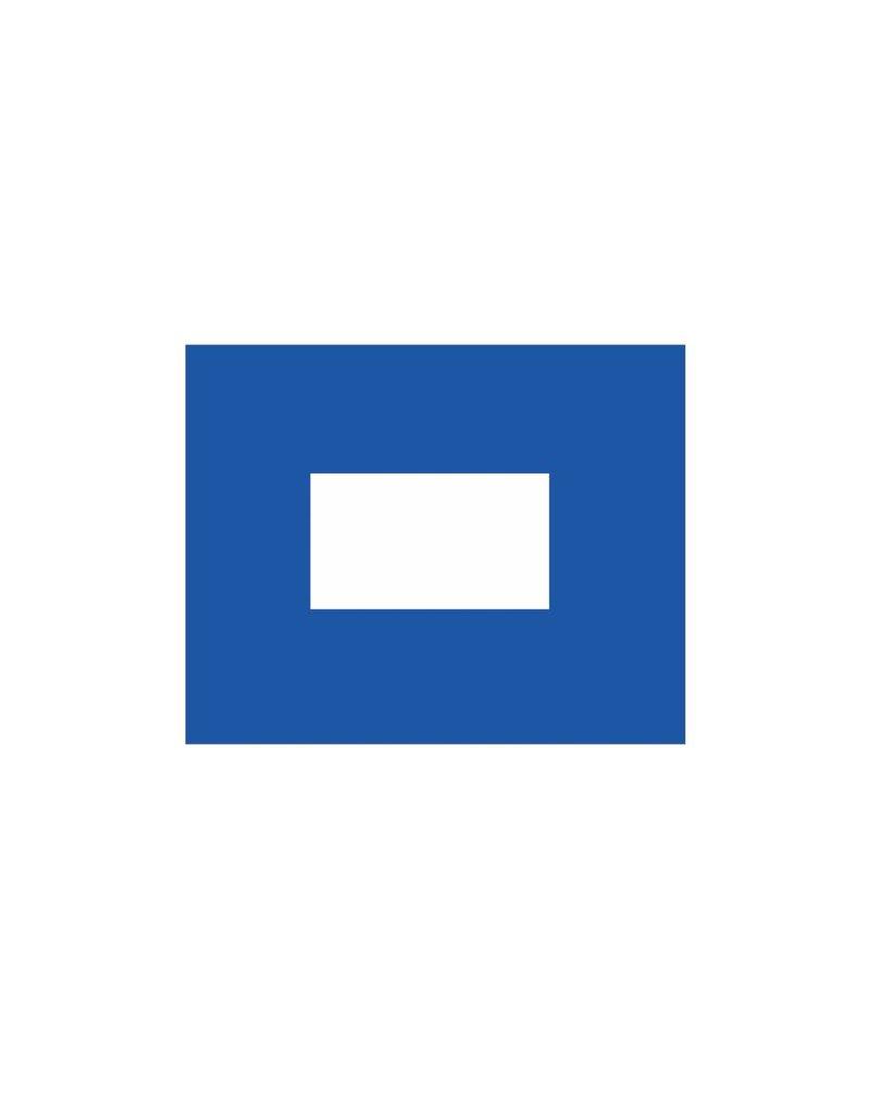 Nautische P Flagge Sticker