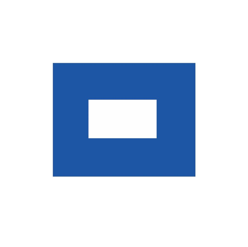 Pegatina bandera marítimo P