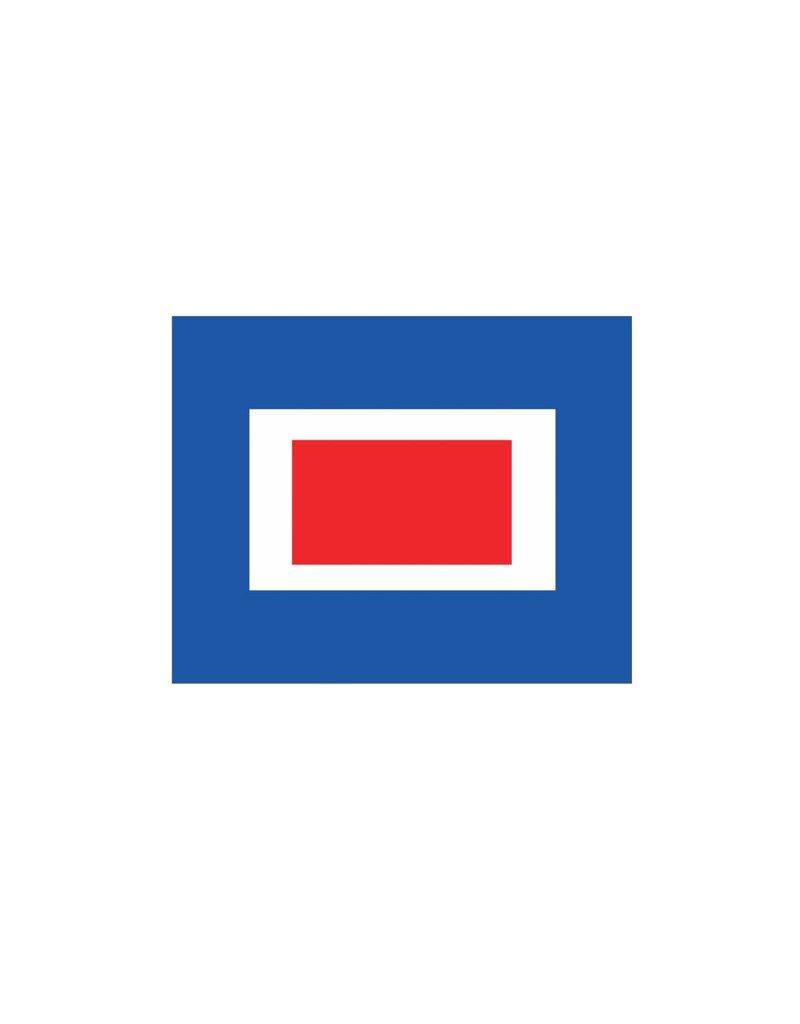 Nautische W Flagge Sticker