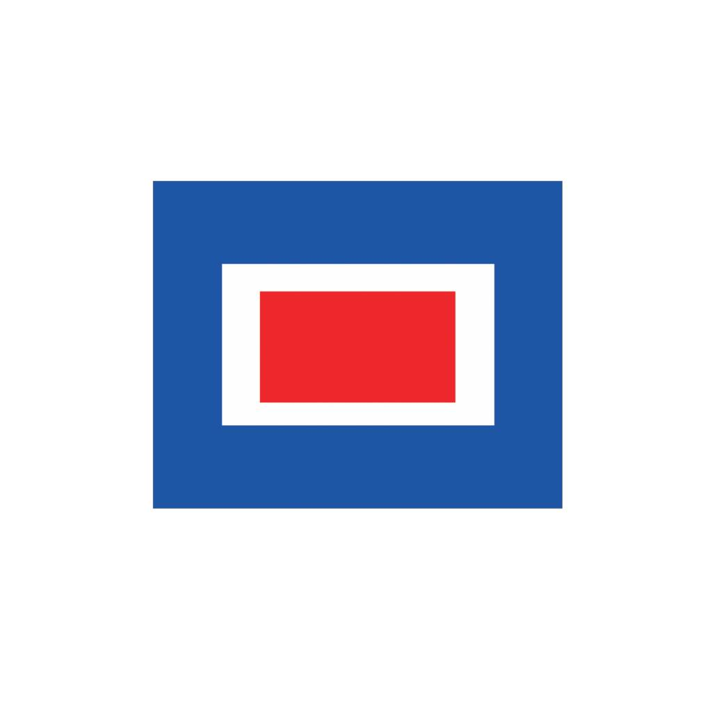 Maritiem W vlag Sticker